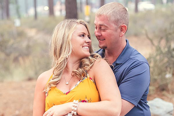 CJ + Audey's Lake Tahoe Engagement at Zephyr Cove Beach by Reno Tahoe photographer