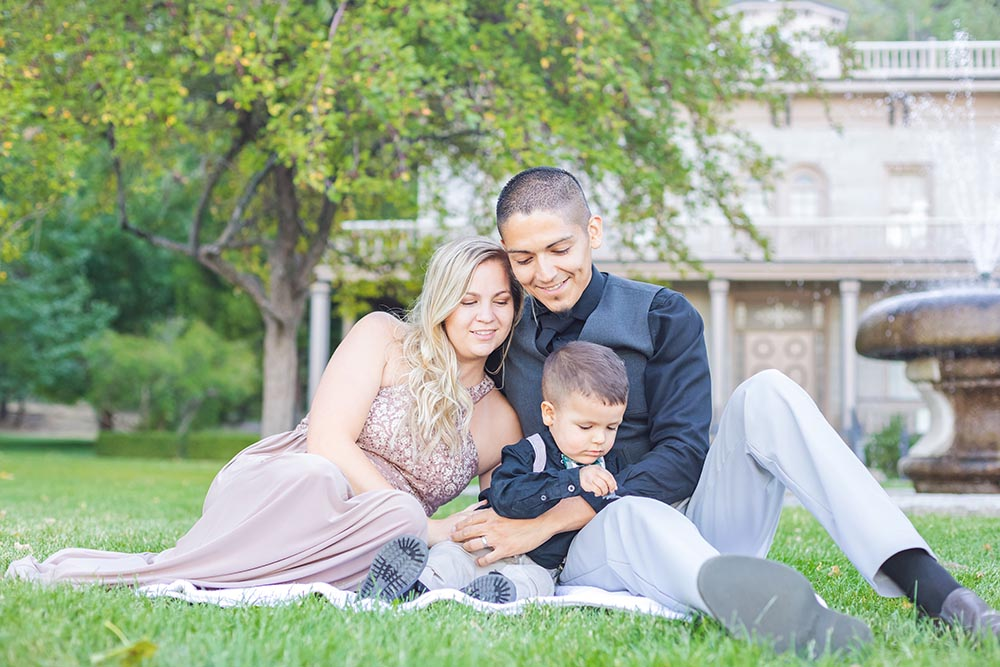 Arias Fall Family Photos at Bower Mansion by Reno Tahoe Photographer