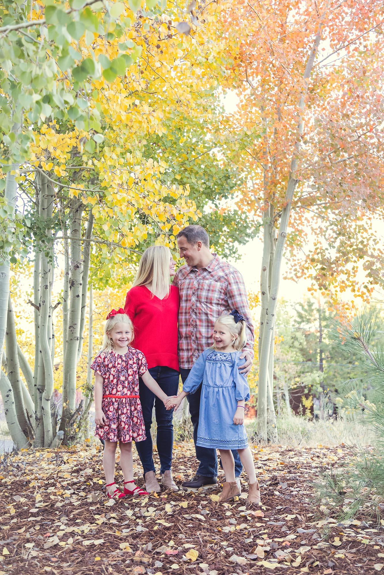 Montgomery Family Photos in Truckee California by Reno Tahoe Photographer