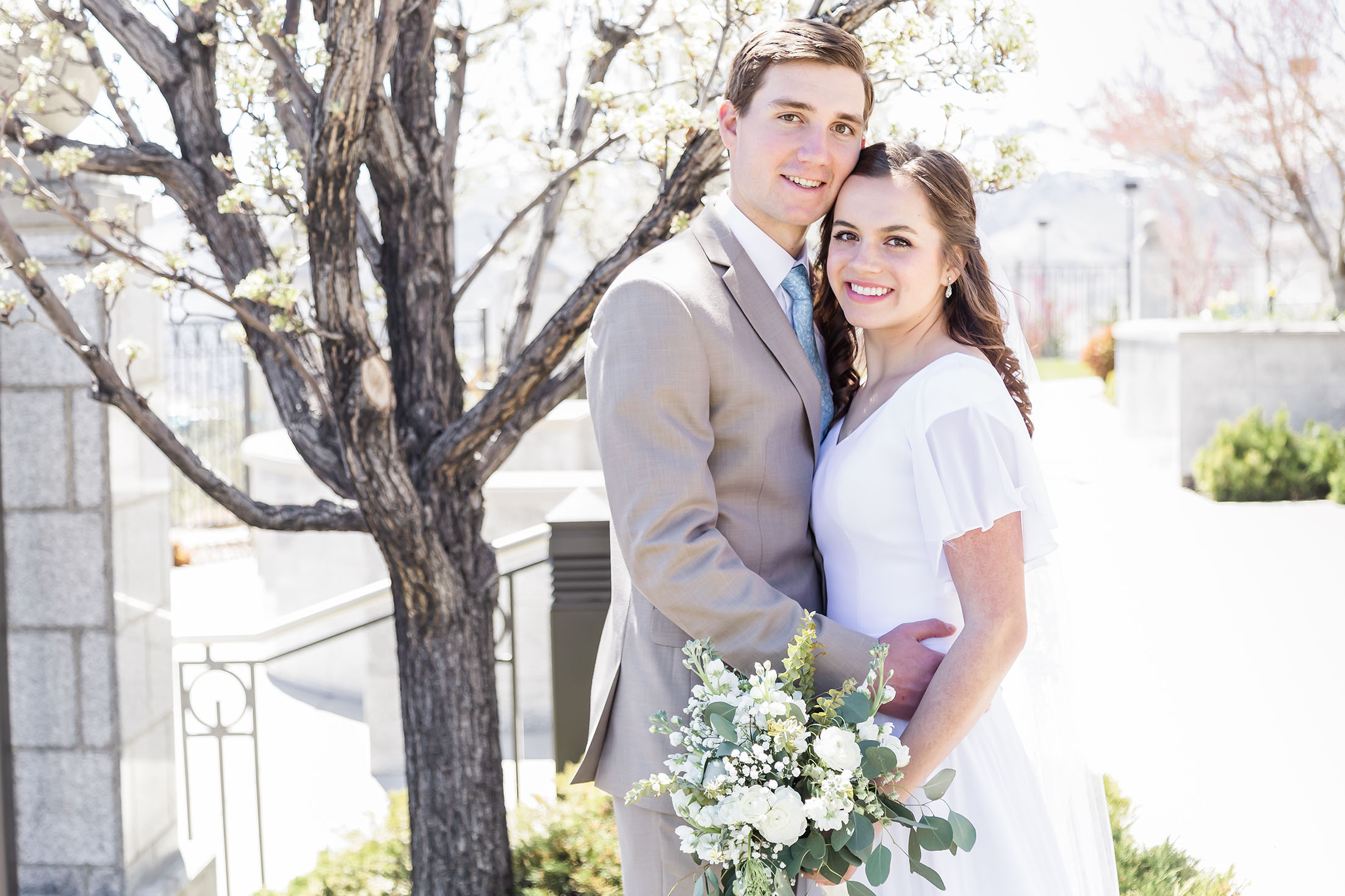Reno LDS Temple wedding with Brigham and Sara